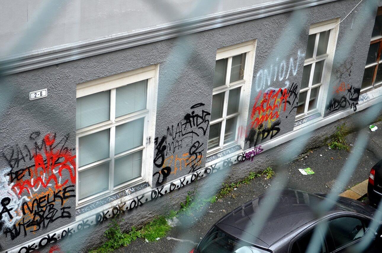 Grafitti Schutzbeschichtung